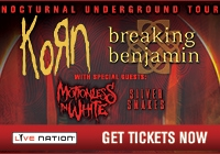 Win Tickets to see Korn + Breaking Benjamin on the Nocturnal Underground Tour