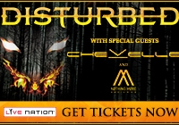Win Tickets to see Disturbed with Special Guests Chevelle + Nothing More