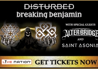 Enter to win tickets to see Disturbed and Breaking Benjamin!
